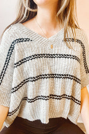 Blouse - The Haylee Striped Top