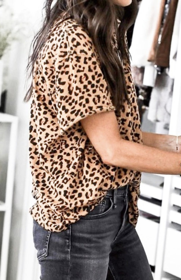 Blouse - The Jami Leopard Boxy Tee