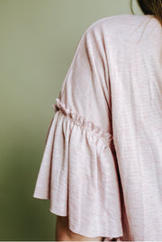 Blouse - The Lauren Swing Top In Rose Pink