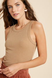 Blouse - The Lily Bodysuit In Camel