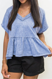 Blouse - The Marta Blue Swing Top