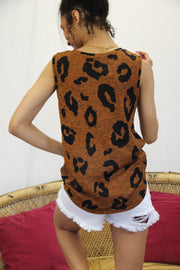Blouse - The Matilda Leopard Tank