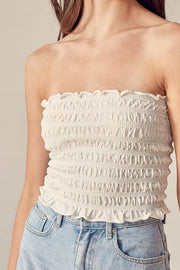 Blouse - The Molly Tube Top In Cloud