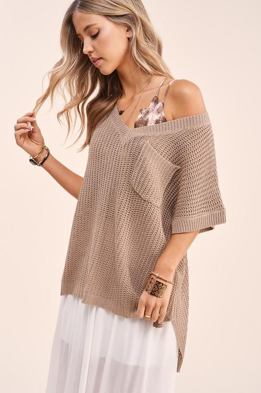 Blouse - The Myla Top In Taupe