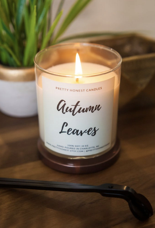 Candle - Autumn Leaves Candle By Pretty Honest
