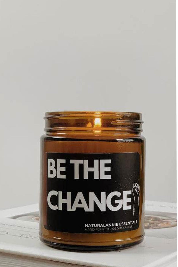 Candle - Be The Change! Soy Candle 9oz -Violet & Musk