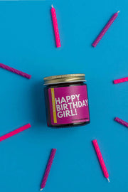 Candle - Happy Birthday Girl! Natural Soy Candle
