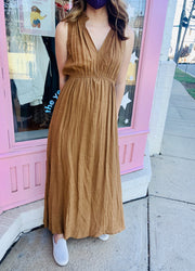Dress - The Amy Maxi Dress In Camel