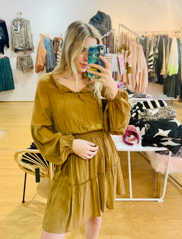 Dress - The Crissie Dress In Camel