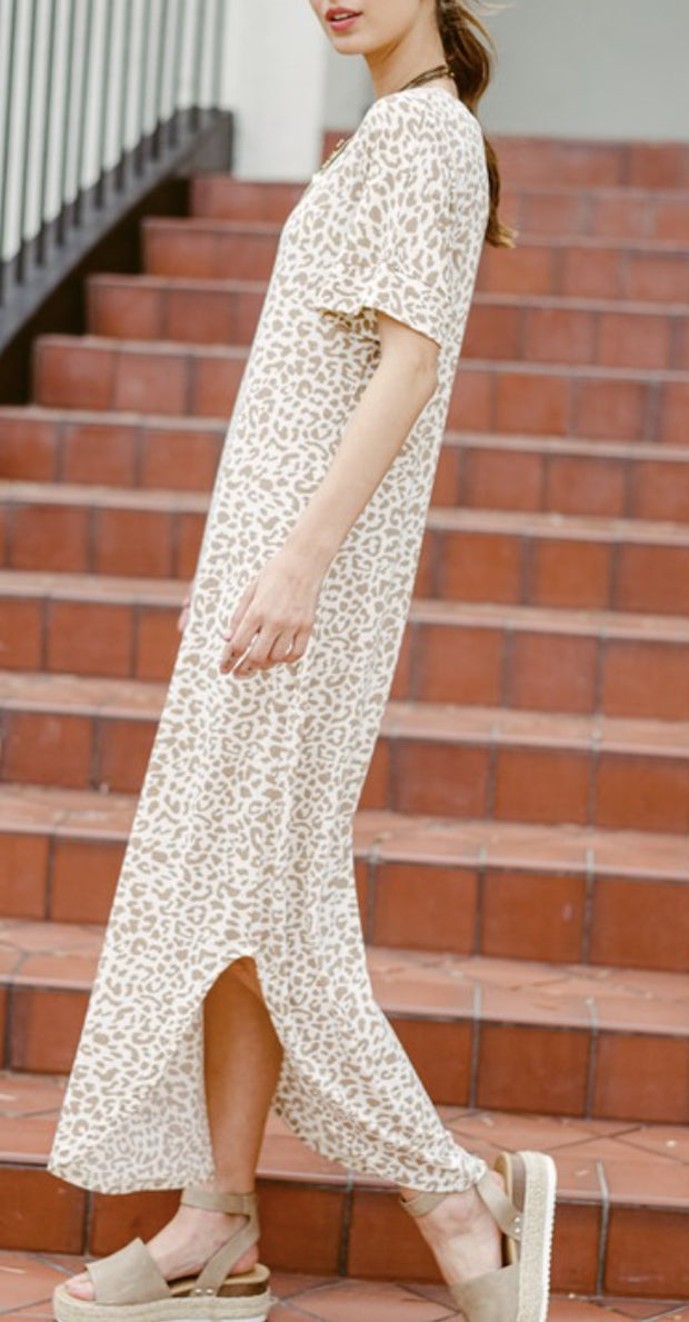 Dress - The Wendy Leopard Maxi