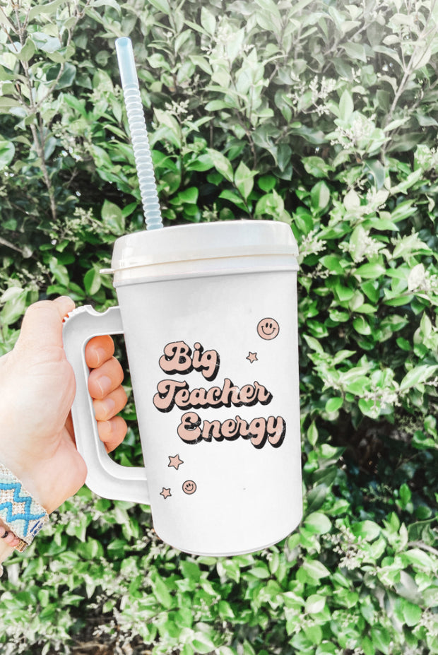 Drinkware - Big Teacher Energy Mega Mug
