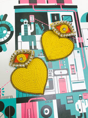 Earrings - Evil Eye And Heart Earrings
