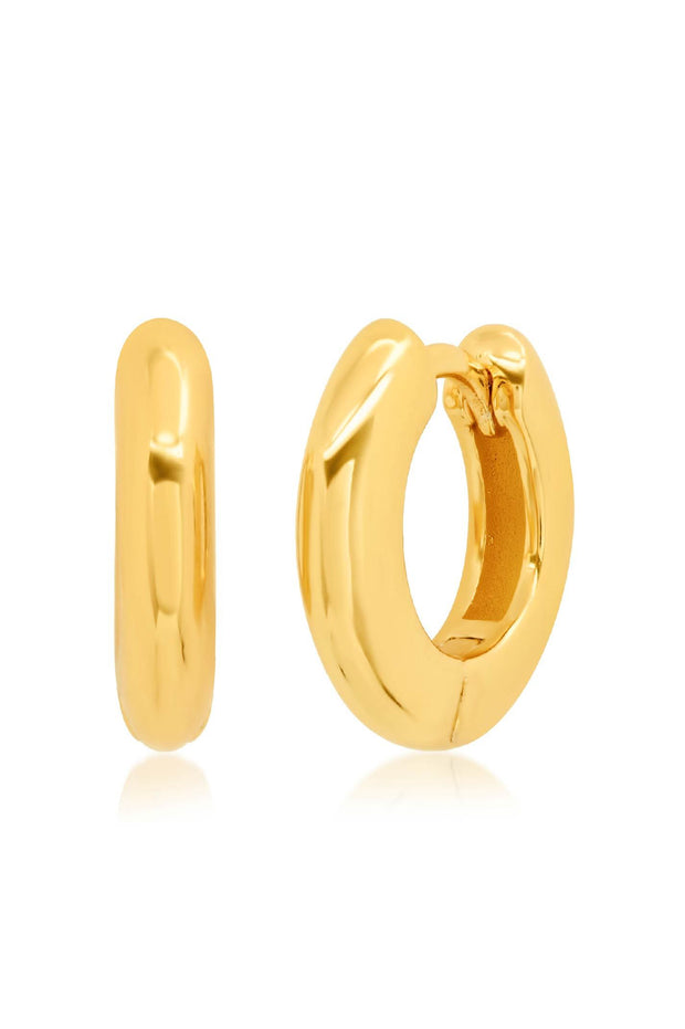Earrings - Thick Gold Huggies