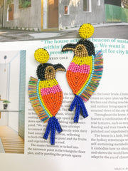 Earrings - Tropical Parrot Beaded Earrings