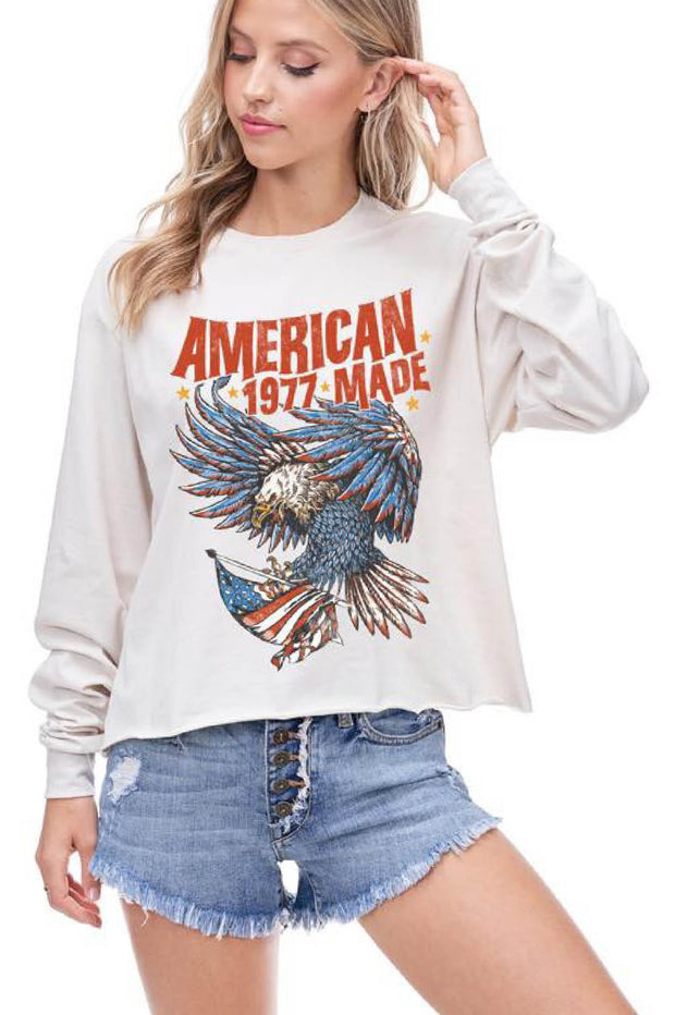 Graphics - American Made 1977 Cropped Top