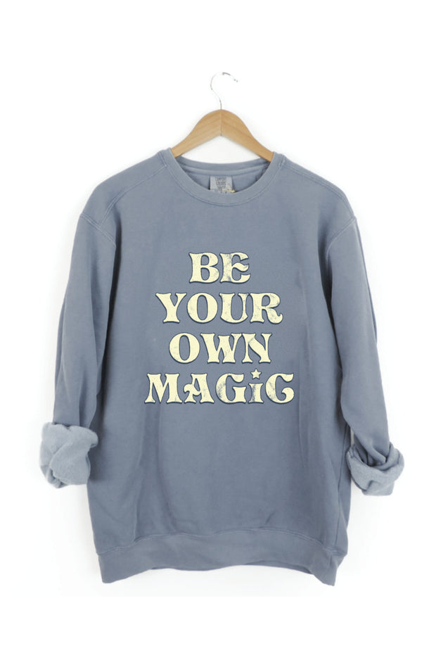 Graphics - Be Your Own Magic Faded Blue Sweatshirt