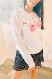 Graphics - Hot Girl Sh*t Conversation Hearts Sweatshirt *Pre-Order*