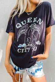Graphics - Queen City Vintage Rocker Tee 2020 In Faded Charcoal *Pre-Order*
