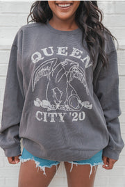 Graphics - Queen City Vintage Sweatshirt 2020 In Faded Charcoal