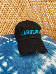 Hat - Black Carolina Hat With Keep Pounding Blue