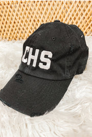 Hat - CHS Distressed Black Hat