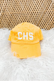 Hat - CHS Distressed Yellow Hat