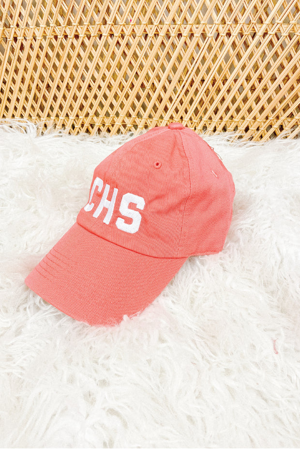 Hat - CHS Non-Distressed Coral Hat