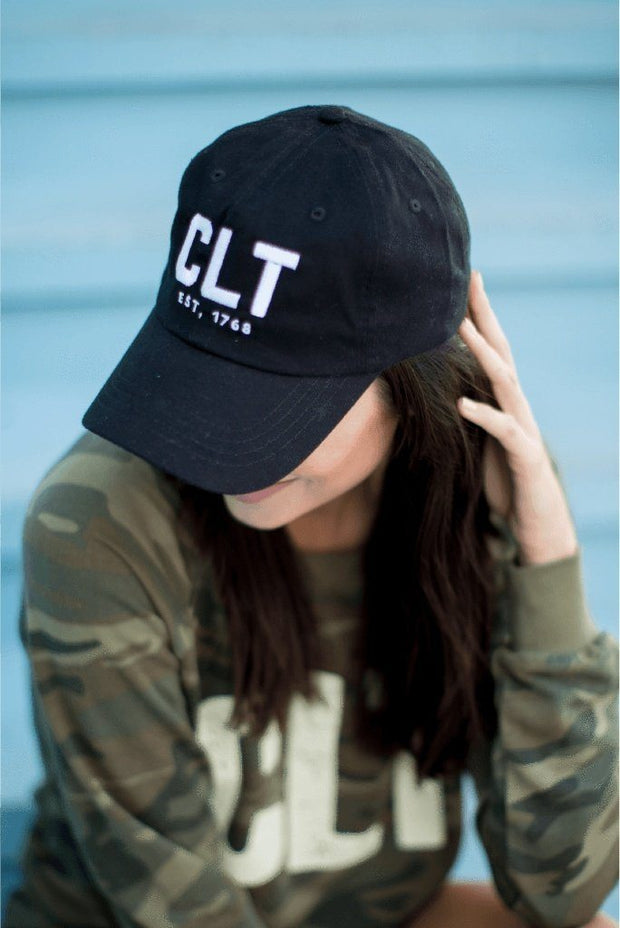 Hat CLT Black Hat CHARLOTTE #GirlTribeGameDay (8507167617)