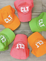 Hat - CLT Distressed Hat In Lime