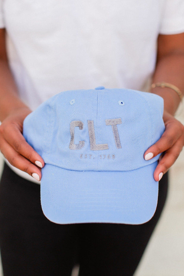Hat - CLT Sky Blue With Gray Dad Hat