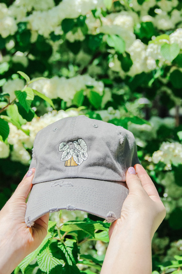 Hat - Embroidered Plant Hat