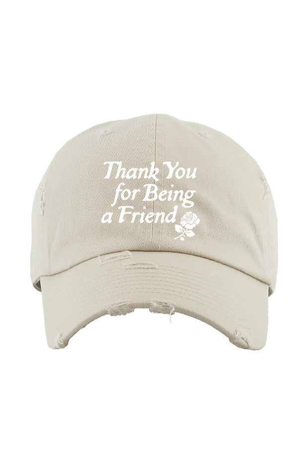 Hat - Thank You For Being A Friend Hat In Stone