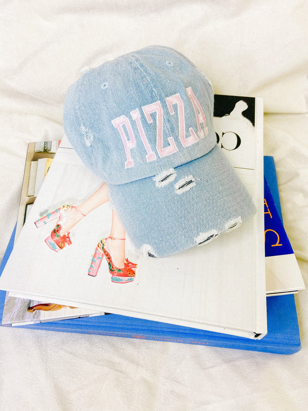 Hat - The Pizza Hat In Denim