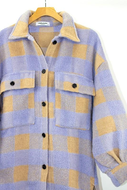 Jackets - The Cora Plaid Shacket