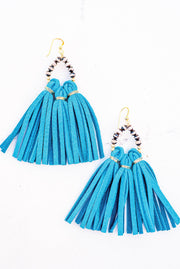 Raven & Riley Earrings - Havana in Turqouise