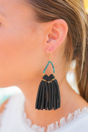 Raven & Riley Earrings - Laguna (Short) in Black