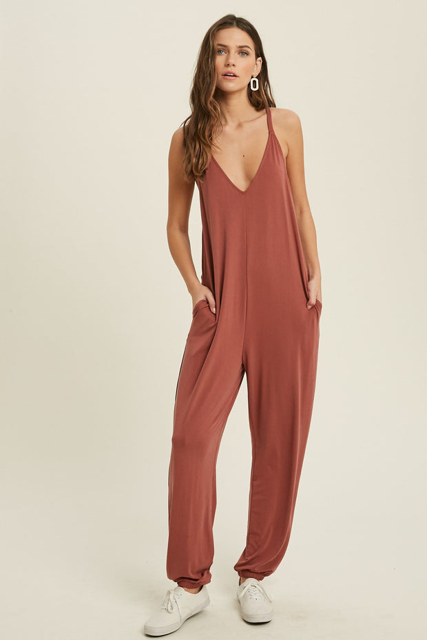 Jumpsuits - The Samantha Jumpsuit In Brick