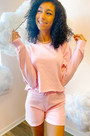 Lounge Wear - Dana Scott Sweatshirt In Bazooka