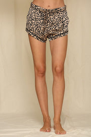 Lounge Wear - The Clarke Leopard Satin Shorts