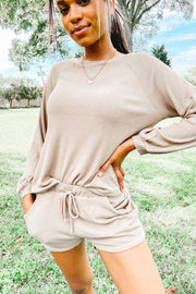 Lounge Wear - The Lilly Lounge Wear Set In Olive