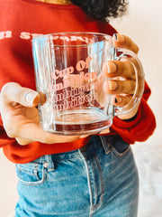 Mugs - Cup Of Ambition Clear Mug