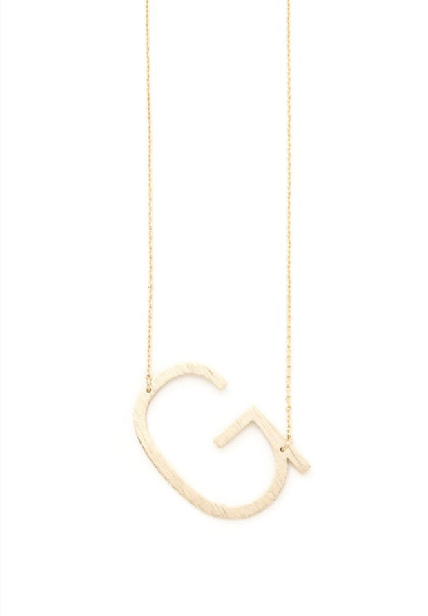 Necklace - Gold Letter Necklace