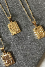 Necklace - Initial Card Necklaces By Bracha