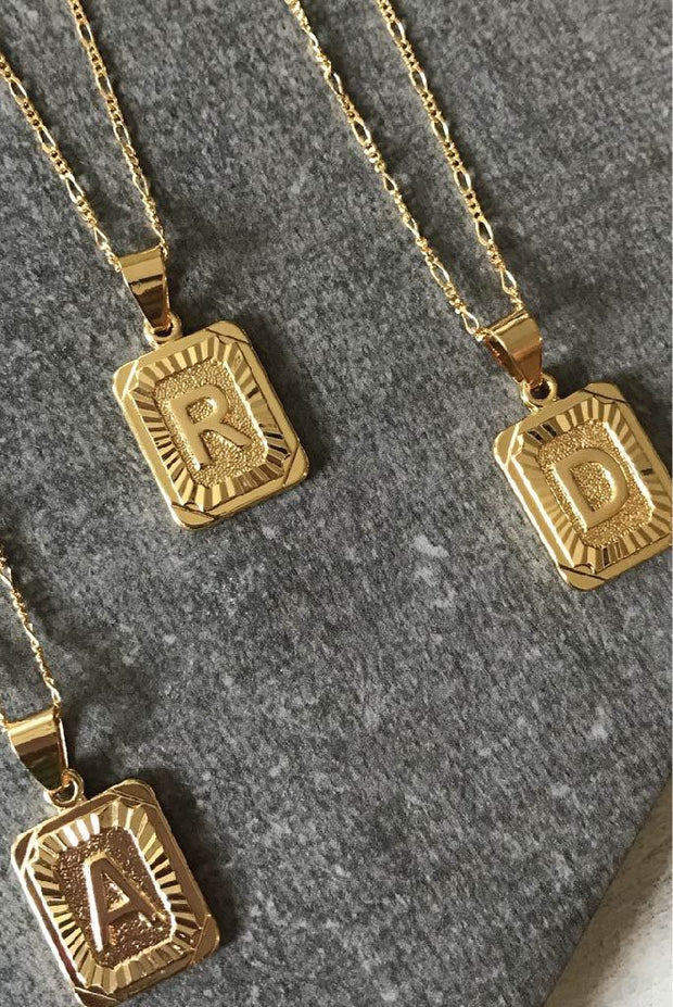 Necklace - Initial Card Necklaces By Bracha (4452648157238)