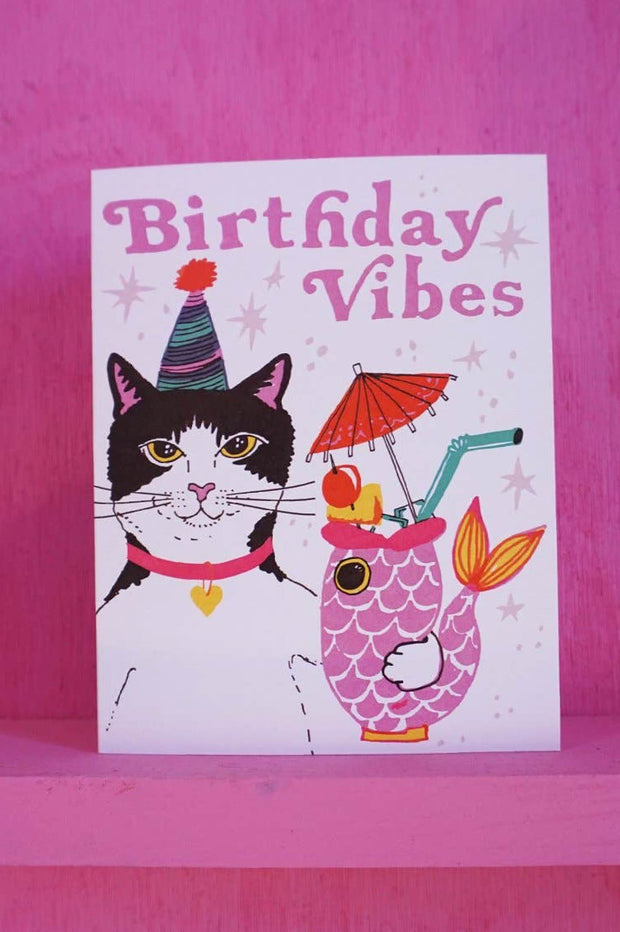 Paper Goods - Birthday Vibes Card
