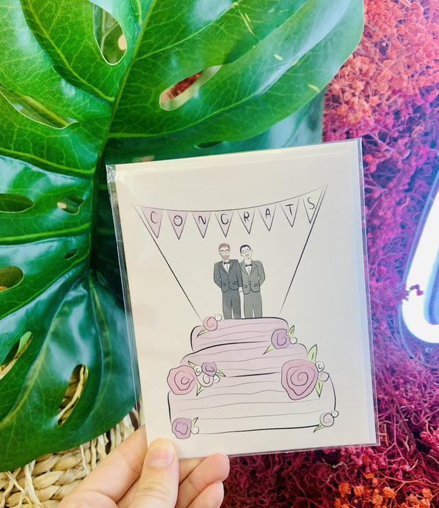 Paper Goods - Congrats, Groom & Groom Card
