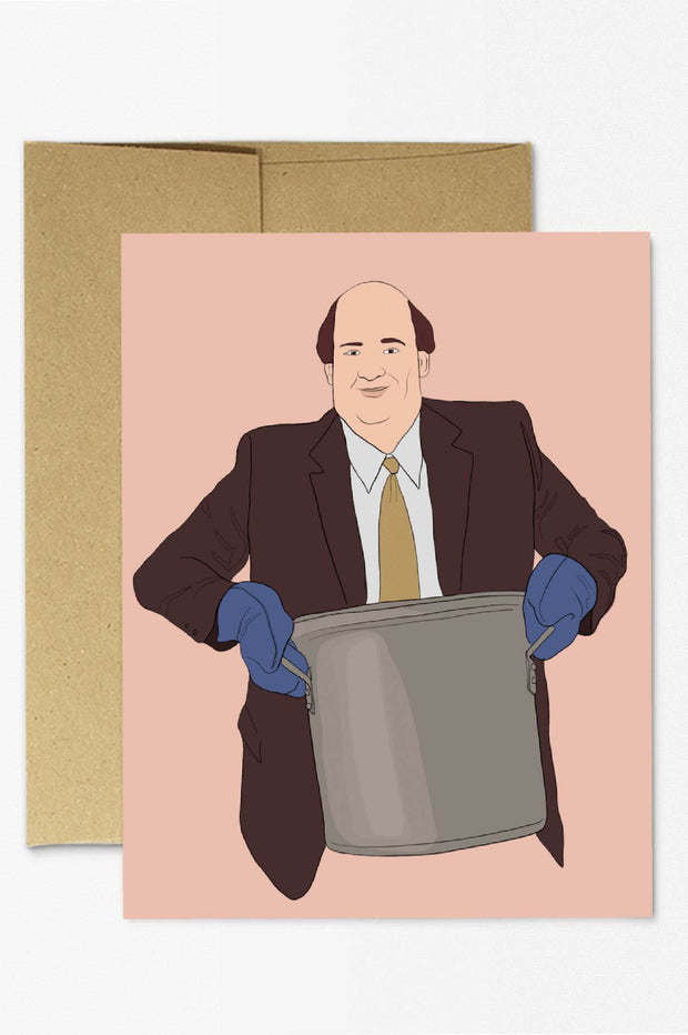 Paper Goods - The Office Kevin Chili Card