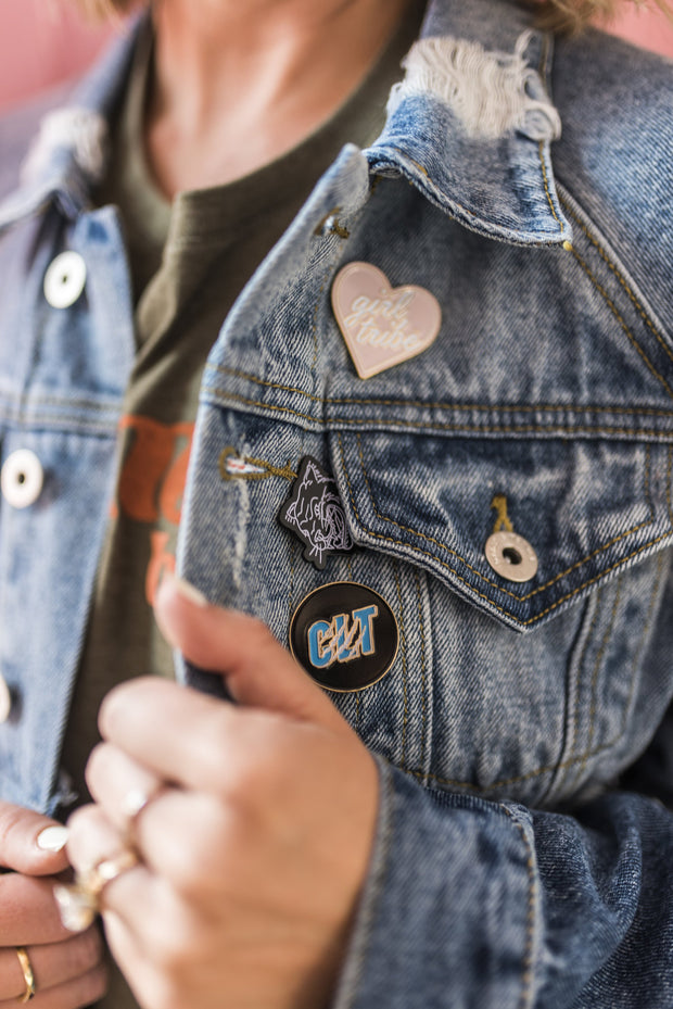Pin - Girl Tribe Heart Enamel Pin