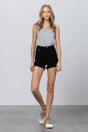 Shorts - The Cara Black Denim Shorts
