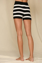 Shorts - The Kailee Striped Shorts In Midnight